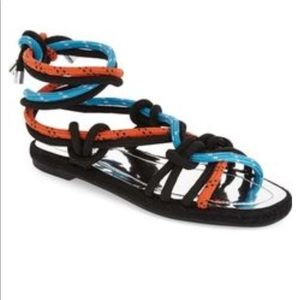 Topshop Knotted Cord Tie Sandals